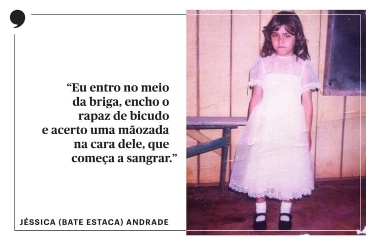 Jéssica Bate Estaca Andrade criança menina