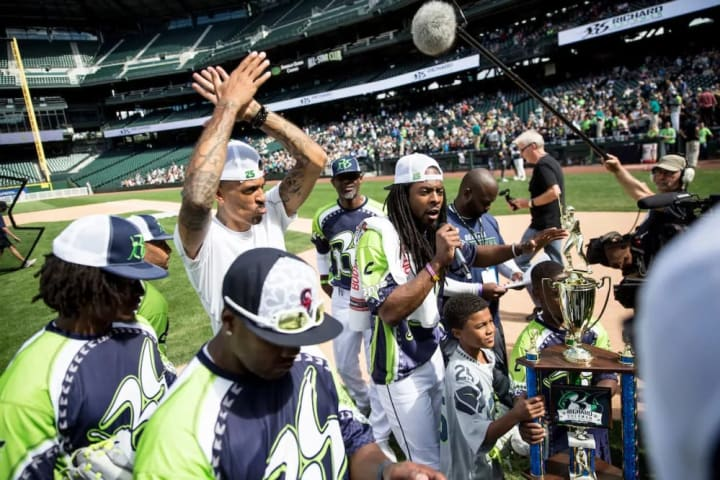Richard Sherman Celebrity Softball game at Safeco Field on Saturday, July 9, 2016 in Seattle, Washington. (Photo by Taylor Baucom/The Players' Tribune