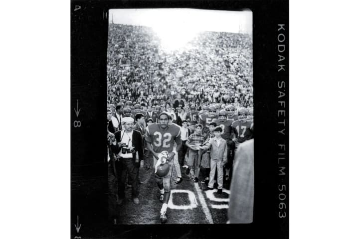USC's O.J. Simpson after a tie vs. Notre Dame in 1968.