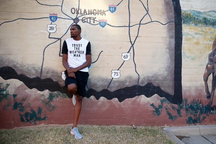 In October, Thunder forward Kevin Durant showed us around Oklahoma City.