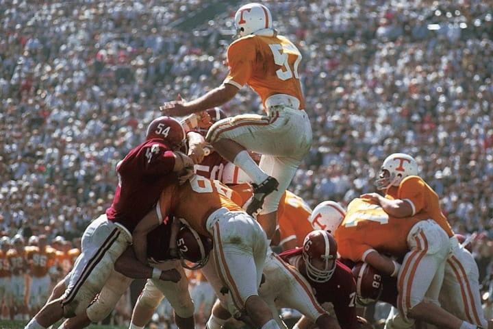 Tennessee's Steve Kiner against Alabama at Legion Field in 1967.