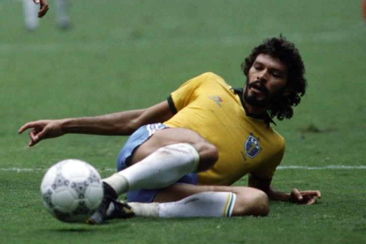 Socrates in a top notch Brazil kit