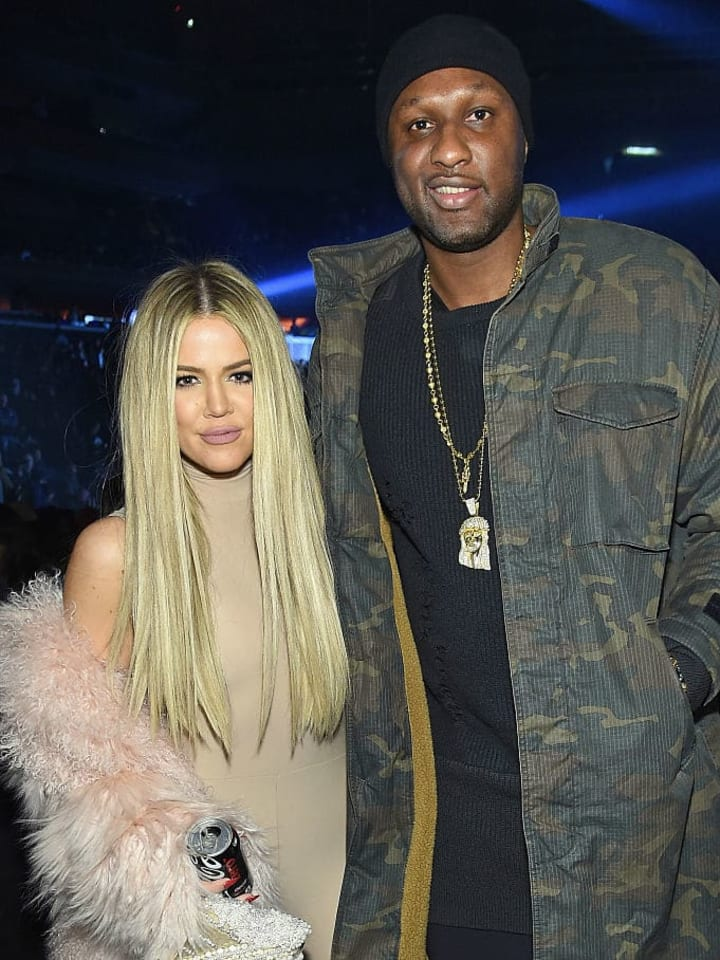 NEW YORK, NY - FEBRUARY 11:  Khloe Kardashian and Lamar Odom attend Kanye West Yeezy Season 3 on February 11, 2016 in New York City.  (Photo by Jamie McCarthy/Getty Images for Yeezy Season 3)
