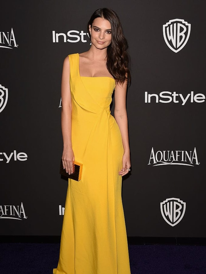 BEVERLY HILLS, CA - JANUARY 11:  Model Emily Ratajkowski attends the 2015 InStyle And Warner Bros. 72nd Annual Golden Globe Awards Post-Party at The Beverly Hilton Hotel on January 11, 2015 in Beverly Hills, California.  (Photo by Jason Merritt/Getty Images)