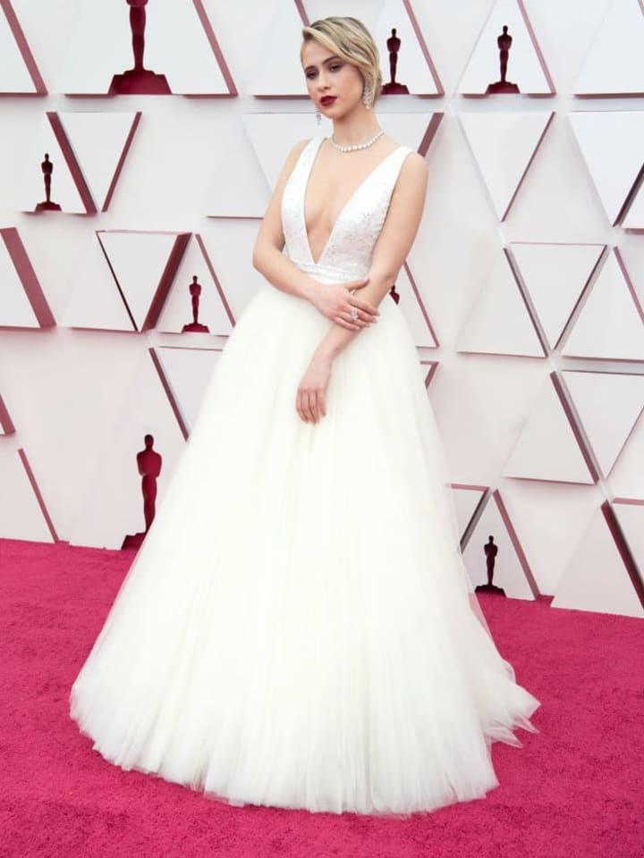 Maria Bakalova at 2021 Oscars
