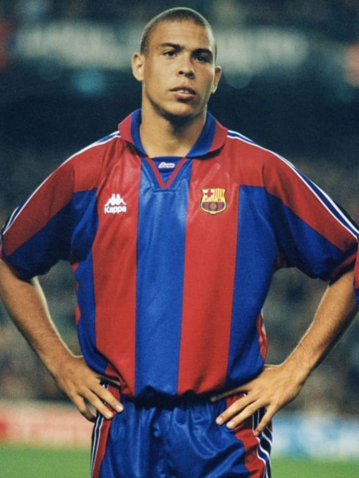 Ronaldo during his one and only season at Barcelona