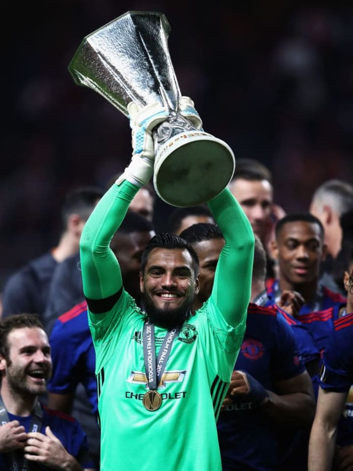 Romero was part of United's 2017 Europa League winning side