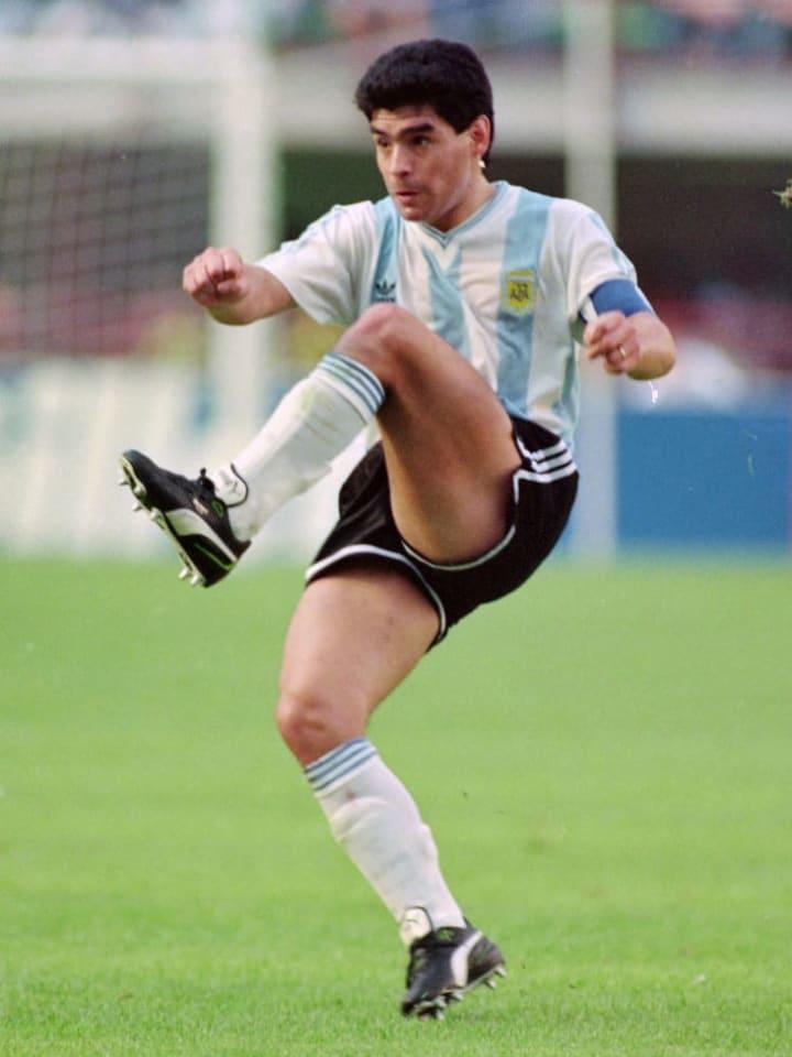 Maradona played at his third World Cup in 1990