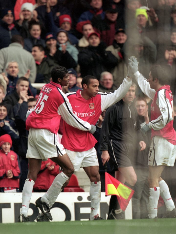 Thierry Henry got his first Arsenal hat-trick in this game