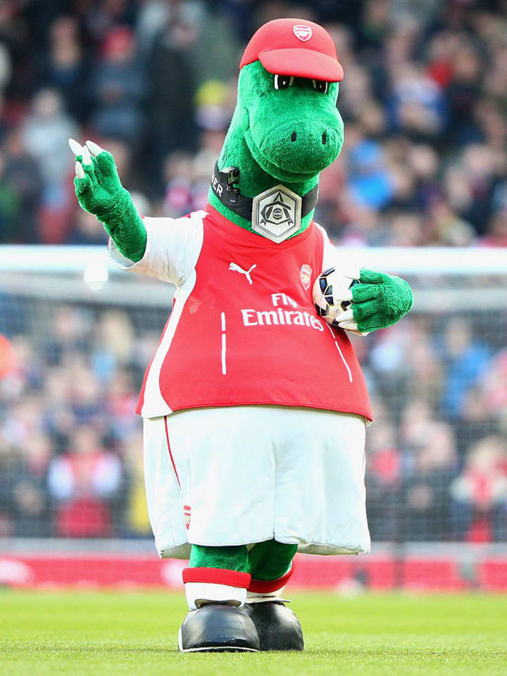 Jerry Quy has portrayed Gunnersaurus for 27 years
