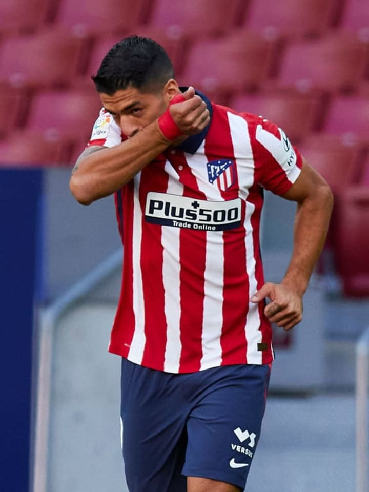 Suarez scored twice on his debut for Atletico Madrid