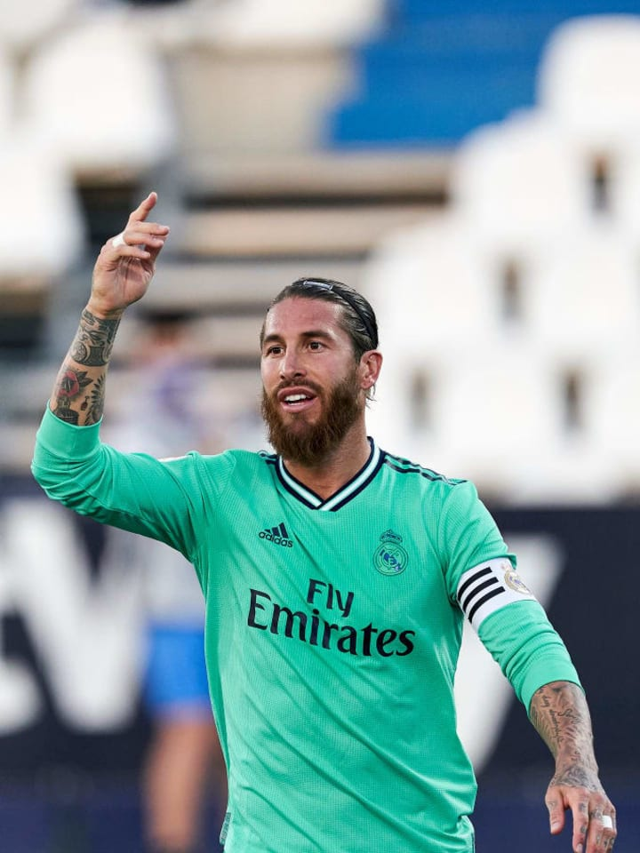 Sergio Ramos is Madrid's second top scorer this season