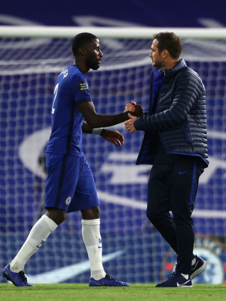 There was apparently never anonymity between Antonio Rudiger and Frank Lampard, according to the German