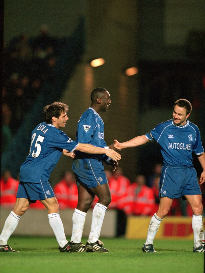 Dennis Wise, Gianfranco Zola and Jimmy Floyd Hasselbaink