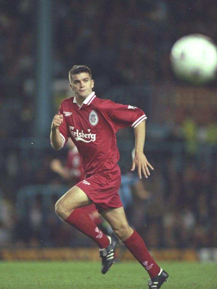 Dominic Matteo of Liverpool makes a run