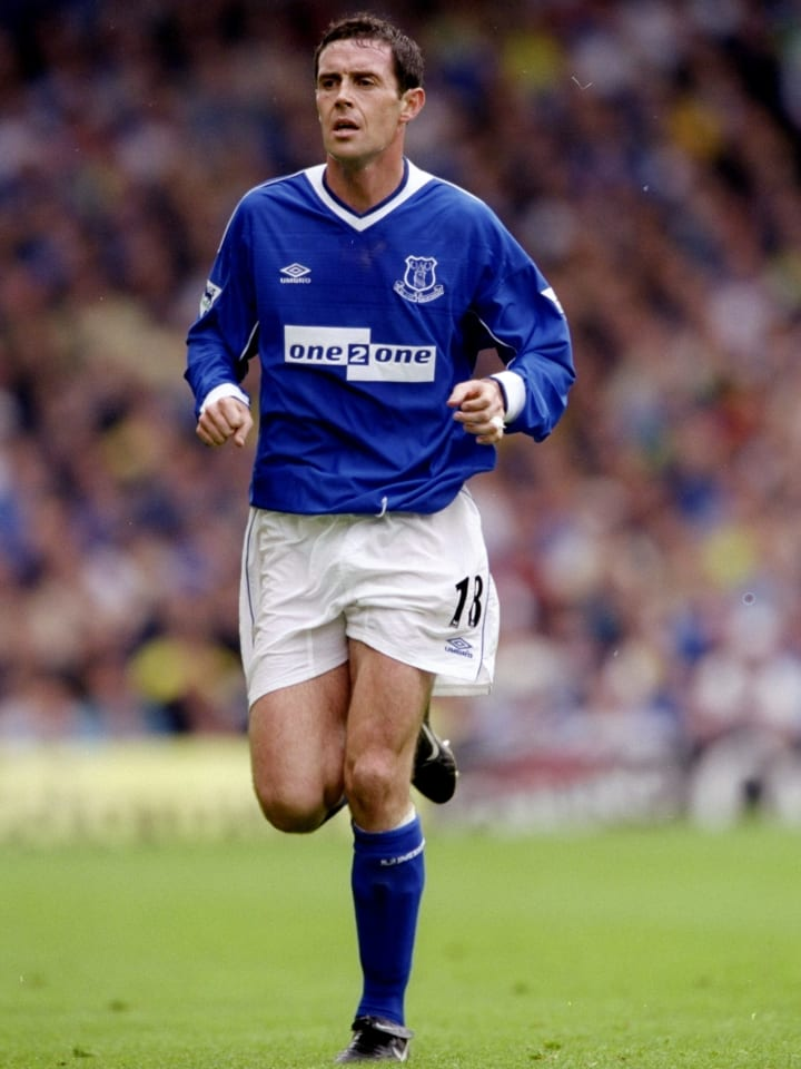 Weir started at right back for Everton