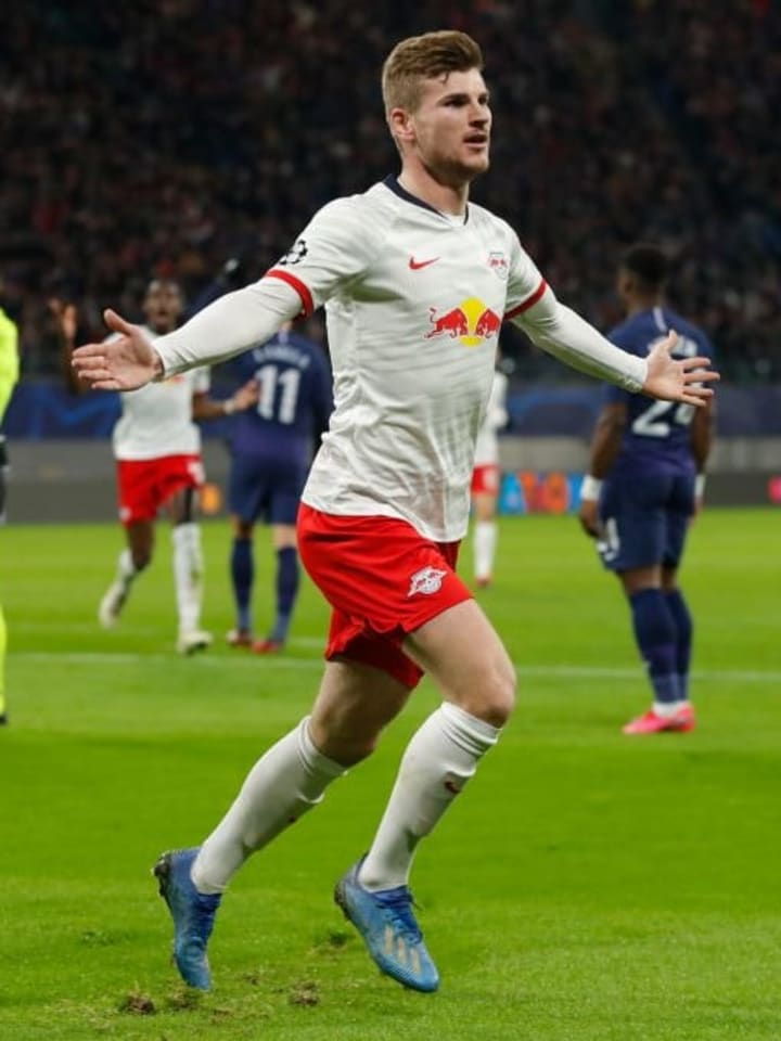 Timo Werner scores against Spurs in this seasons UCL