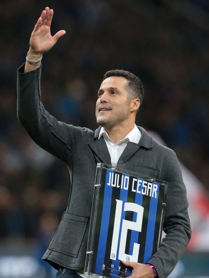 Julio Cesar left Inter as a treble-winner but struggle d at QPR