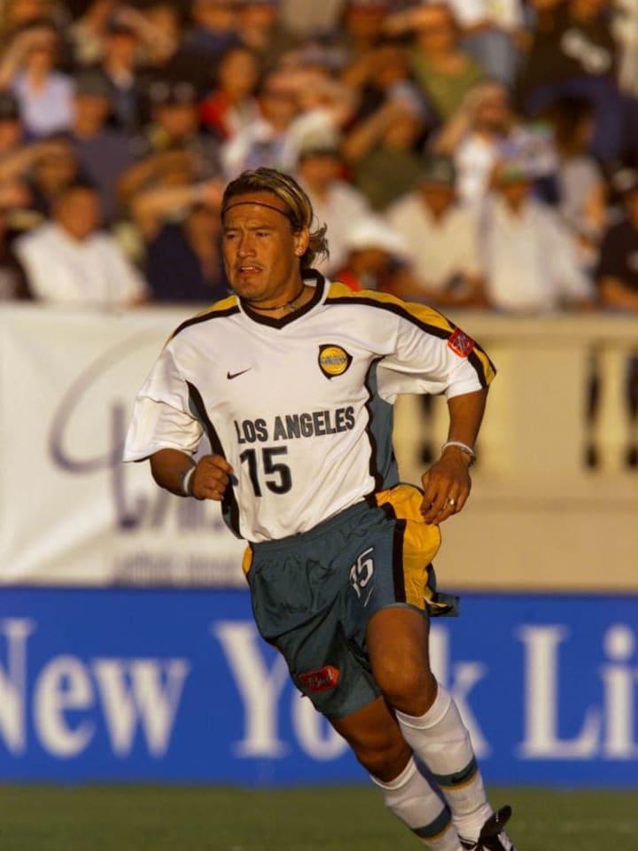 Hernández jugando en Los Ángeles Galaxy