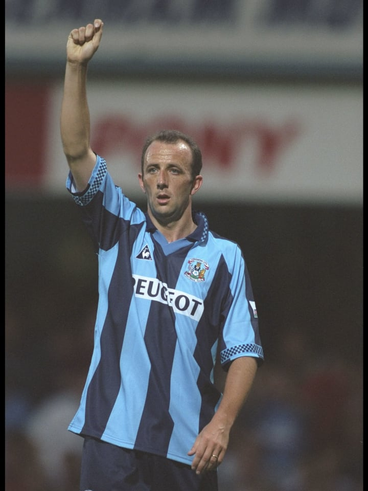 Gary McAllister of Coventry in action
