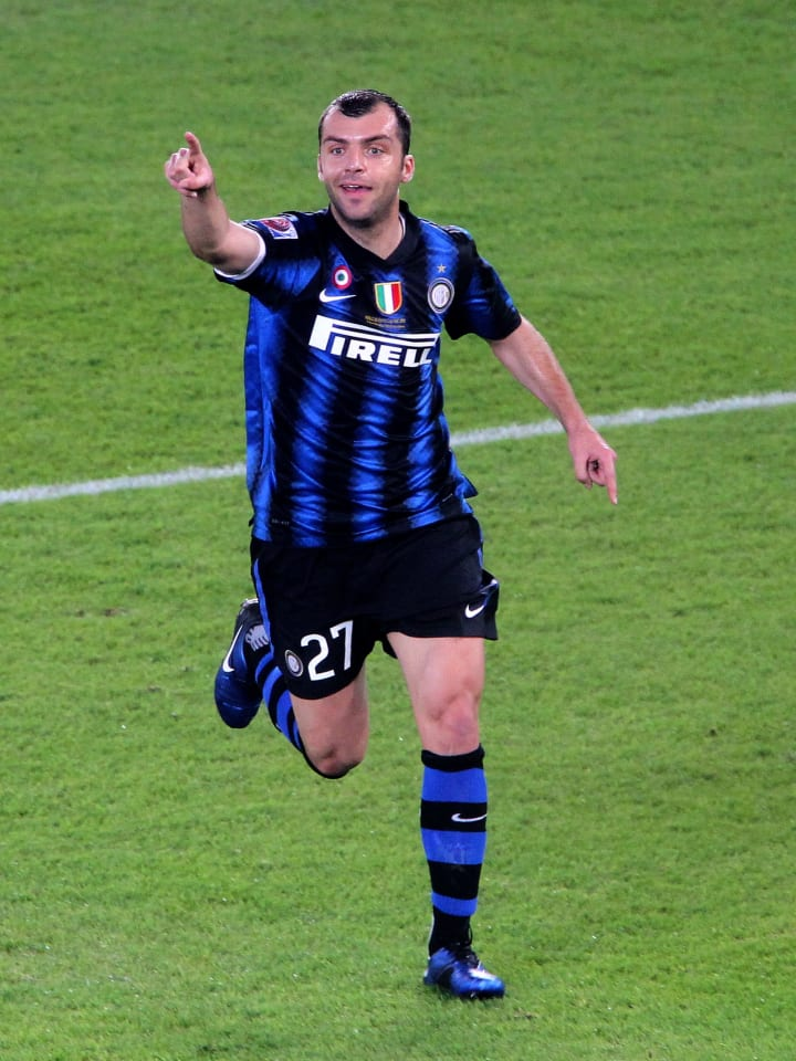 Pandev con la maglia dell'Inter