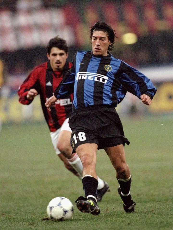 Ivan Zamorano of Inter Milan