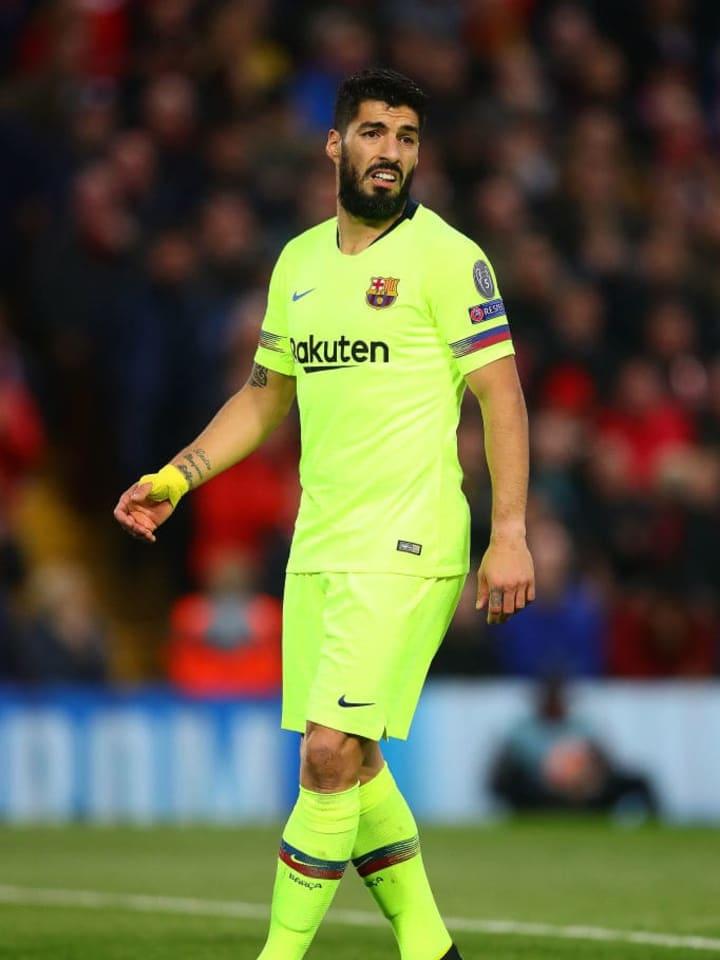Luis Suarez saat bermain di Barcelona