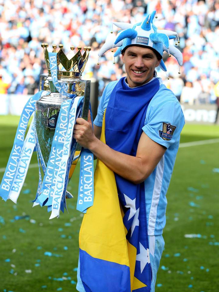 Dzeko helped City to their maiden Premier League title