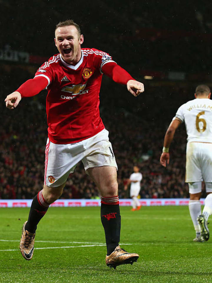 Rooney scored four in 13 against Swansea
