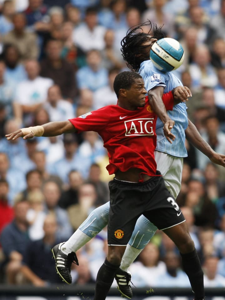 Patrice Evra was outplayed on his United debut