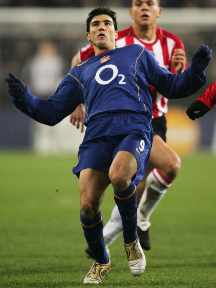 Reyes donning the 2004/05 away kit