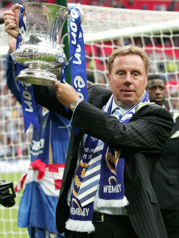 Portsmouth's Manager Harry Redknapp cele