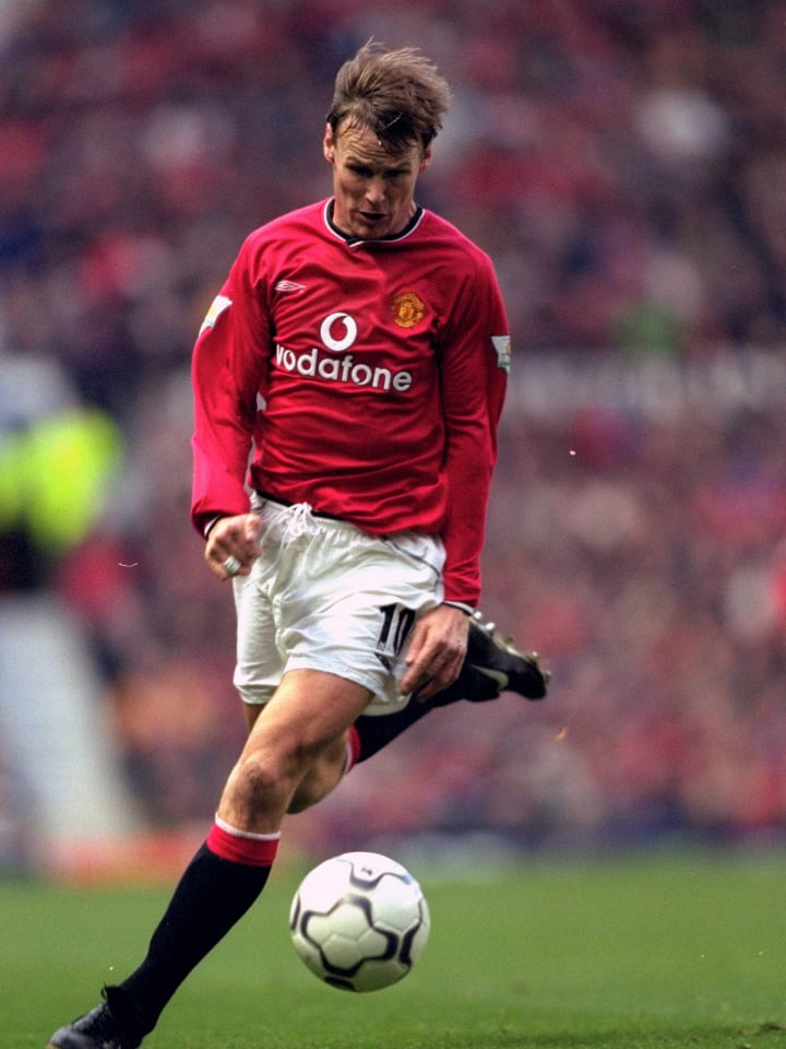 Teddy Sheringham in action for Manchester United