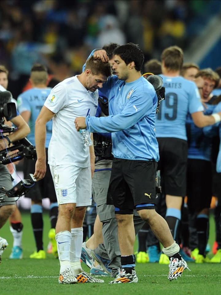 Luis Suarez, Steven Gerrard