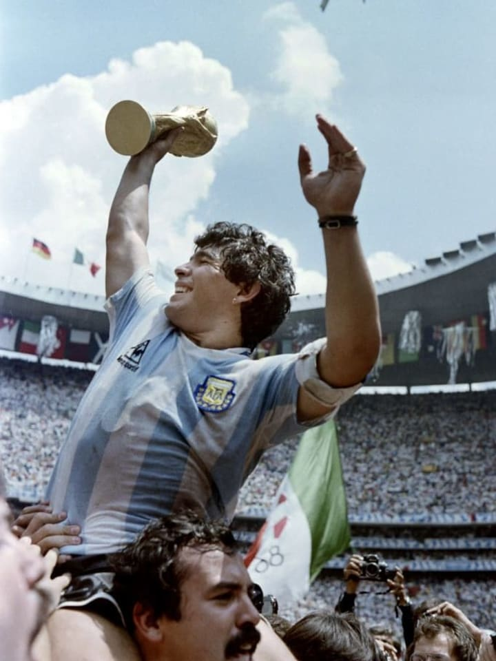 Maradona guided Argentina to 1986 World Cup success
