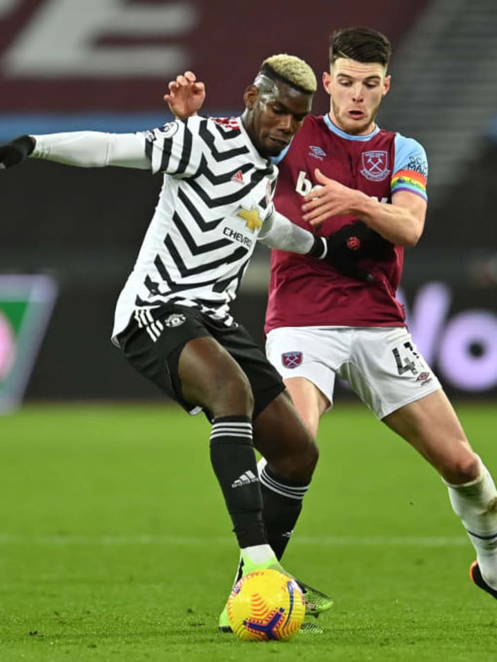 Paul Pogba, Declan Rice
