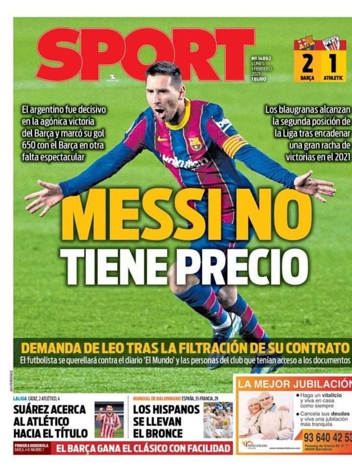 Las victorias de Atlético de Madrid y FC Barcelona, con reivindicación de Luis Suárez y Lionel Messi, en portada 4