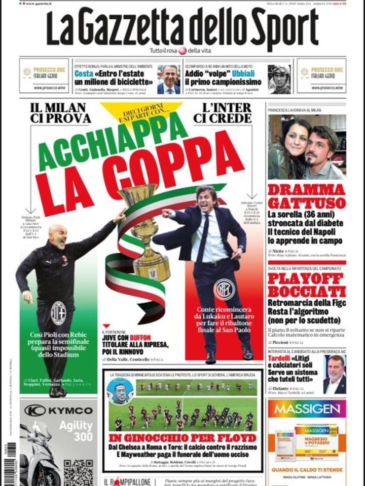 La Gazzetta dello Sport 3 giugno 2020