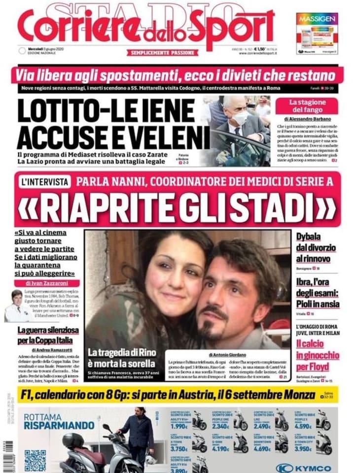 Corriere dello Sport 3 giugno 2020