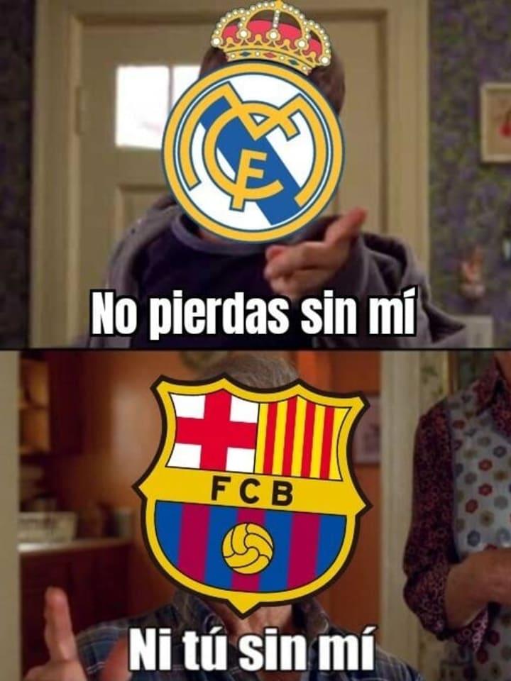 Real Madrid y FC Barcelona, compañeros en al derrota / Memedeportes.com