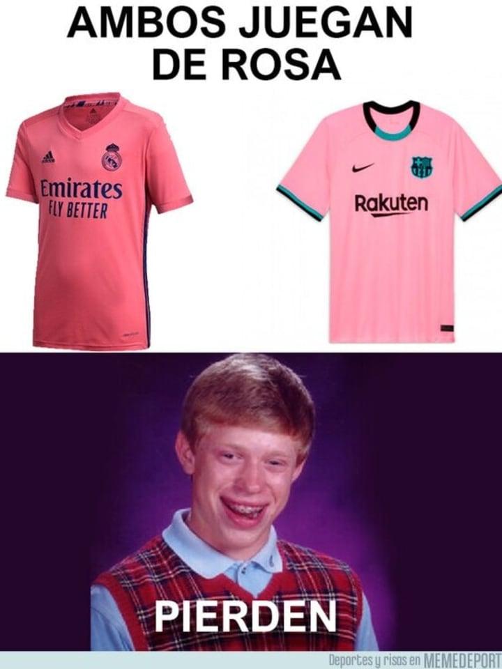 El color de la derrota es el rosa / Memedeportes.com