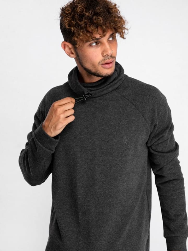 LFC Mens Charcoal Marl Funnel Neck Sweatshirt (Photo: Liverpool Store)