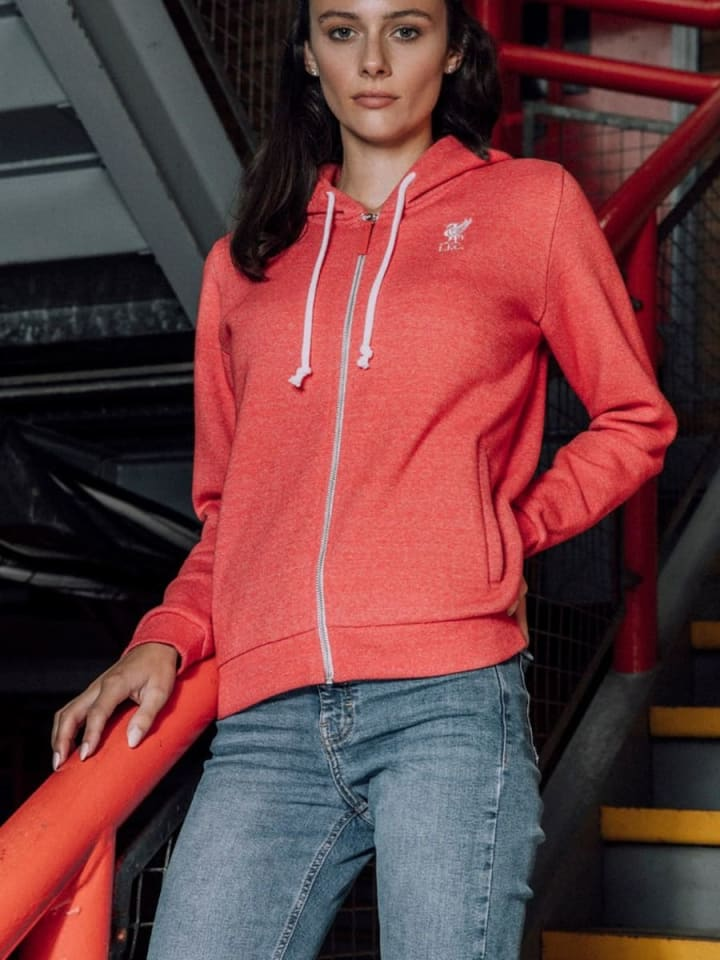 LFC Womens Zip Through Red Marl Hoody (Photo: Liverpool Store)