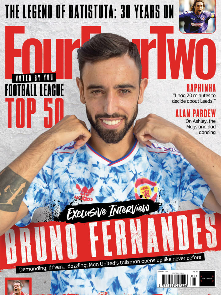 Fernandes is on the cover of the latest issue of FourFourTwo