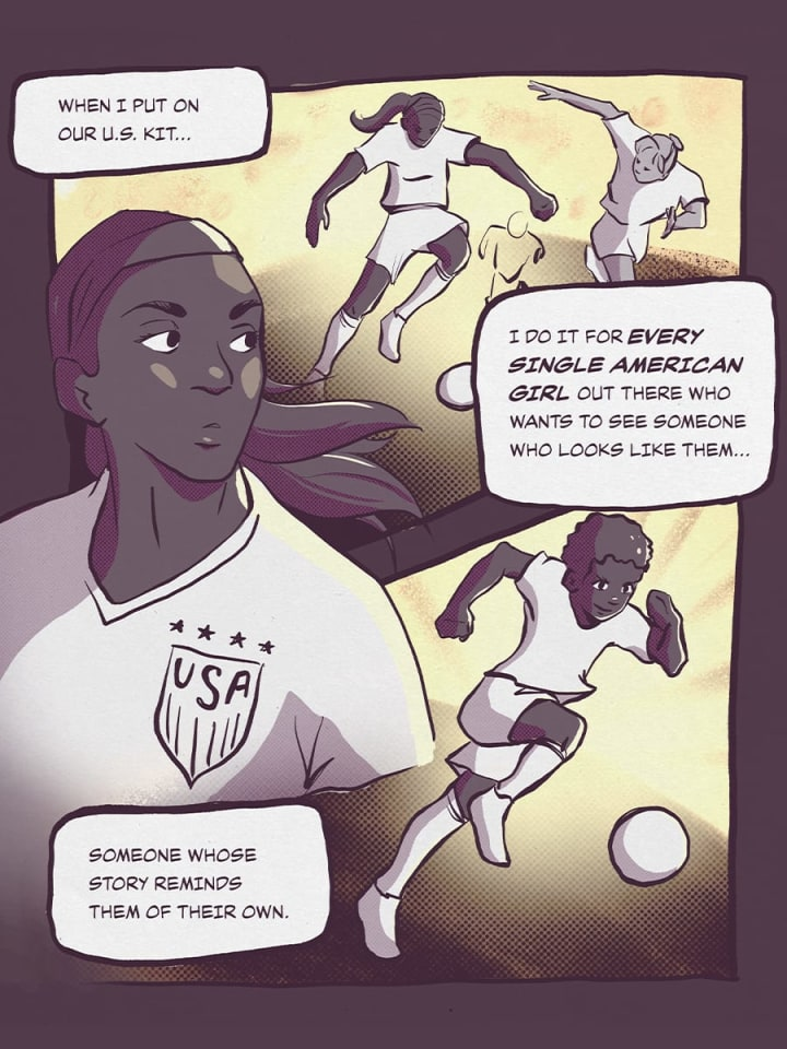 When I put on our U.S. kit I do it for every single American girl out there... | Crystal Dunn | USWNT | The Players' Tribune
