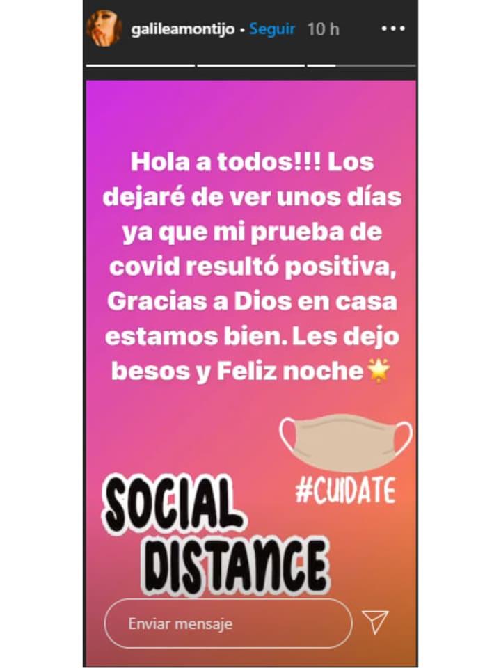 Captura de pantalla de la cuenta de Instagram de Galilea Montijo