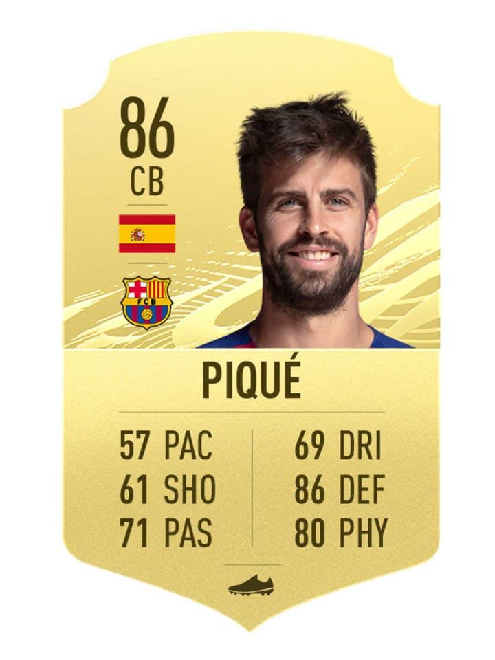 Gerard Pique's FIFA 21 Rating
