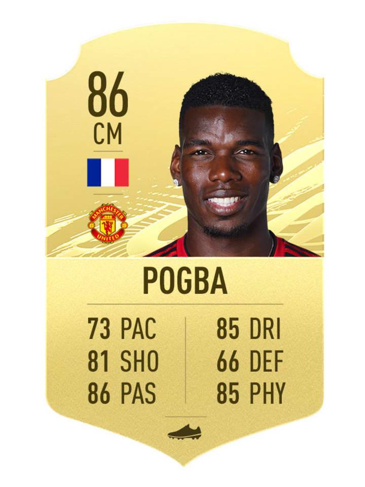 Paul Pogba's FIFA 21 rating