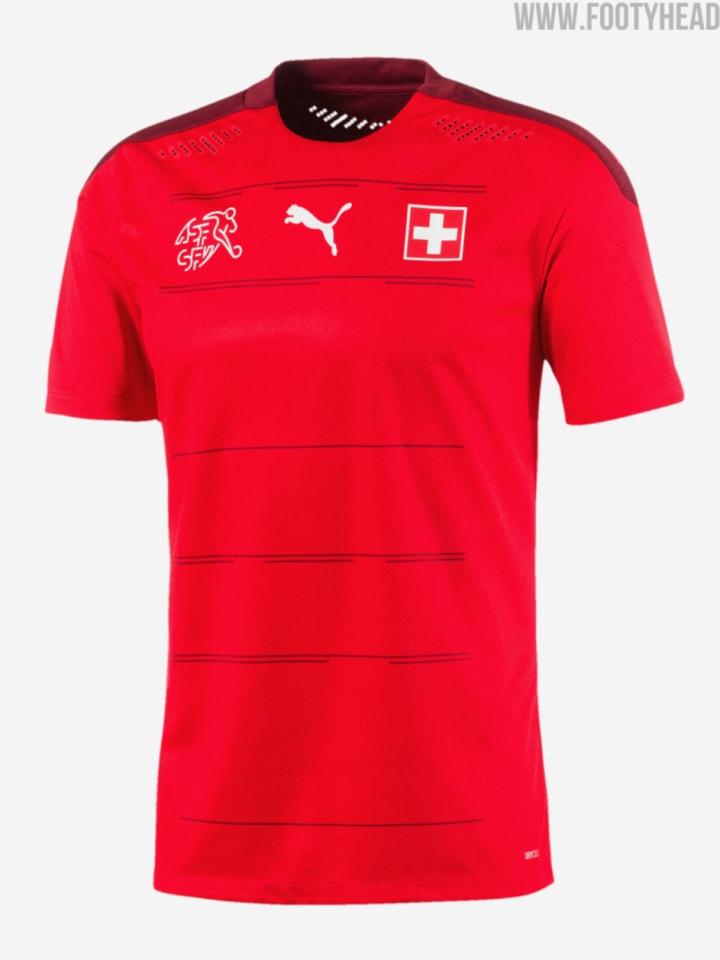 Das Heimtrikot der Schweiz