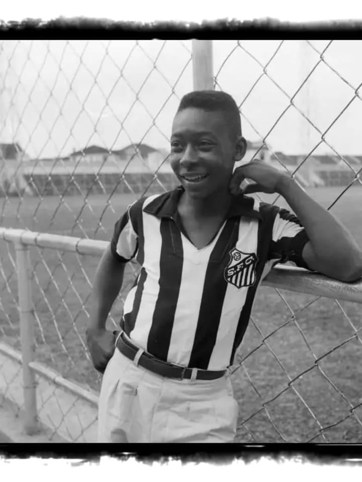 Pelé apresentação Santos